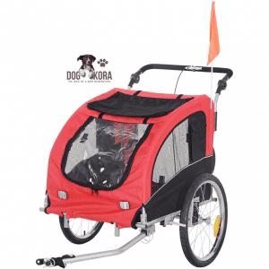Aosom Elite II 2-in-1 Pet Dog Bike Traile