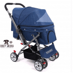 Pet Four-Wheeled Reversible Trolley Durable Stroller