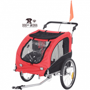 Aosom Elite II 2-in-1 Pet Dog Bike Traile