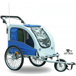 Aosom Elite II Pet Dog Bike Bicycle Trailer Stroller Jogger w_ Suspension