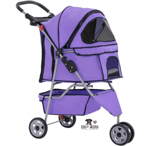 BestPet Pet Stroller_Dog Cage – 3 Wheels