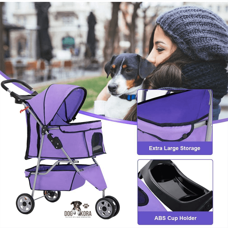 BestPet Stroller Dog Cage 3 Wheels