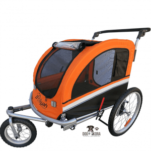 Booyah Large Pet Bike Trailer Dog Stroller & Jogger with Shocks MB