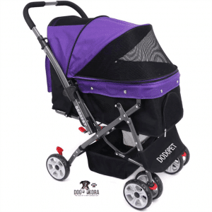 DODO PET by WorldWide Selection Pet – Pet Stroller with 4 Wheels