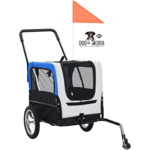 Festnight 2-in-1 Dog Bike Trailer and Jogging Stroller