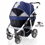 Ibiyaya Double Dog Strollers for Large Dogs up to 77 lbs