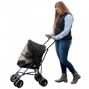 Pet Gear Ultra Lite Travel Stroller, Compact, Large Wheels, Lightweight, 38_ Tall