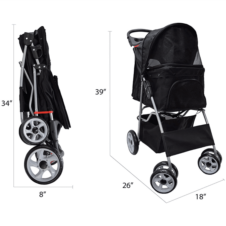 VIVO Four Wheel dog Stroller