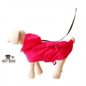best dog raincoat with harness hole